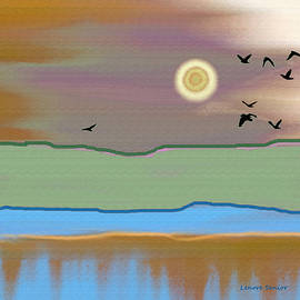 Lenore Senior - Landscape with Crows - Color