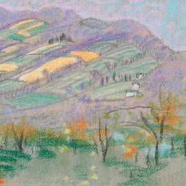 Landscape with Purple Mountains  - Arthur Bowen Davies