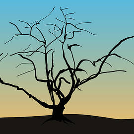 David Gordon - Landscape with Tree