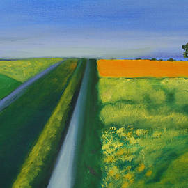 Victoria Sheridan - Landscape With Yellow Field
