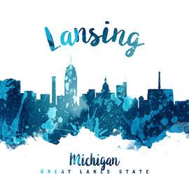 Lansing Michigan Skyline 27 - Aged Pixel
