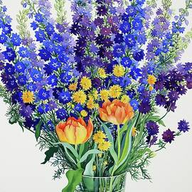 Larkspur and Delphiniums - Christopher Ryland