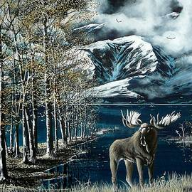 Bob Patterson - Last light Moose