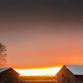 Jukka Heinovirta - Last Rays Of Sun Behind The Barn Houses