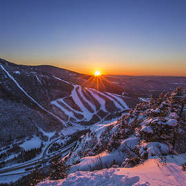 Christopher Whiton - Last Winter Sunset over Cannon Mountain