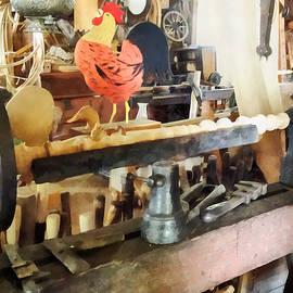 Susan Savad - Lathe in Wood Shop