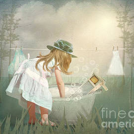 Tricia CastlesNcrowns - Laundry Washing Day Girl