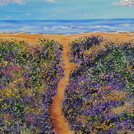 Kathy  Symonds - Lavender Beach- Landscape Ocean Painting