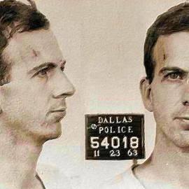 Tony Rubino - Lee Harvey Oswald Mug Shot 1931 Horizontal PAINTING