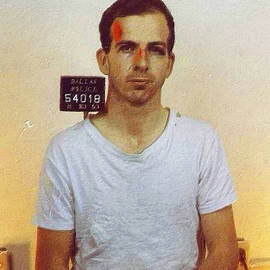 Tony Rubino - Lee Harvey Oswald Mug Shot 1931 Vertical Color PAINTING