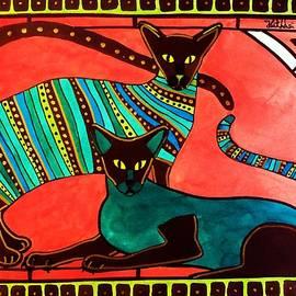 Dora Hathazi Mendes - Legend of the Siamese - Cat Art by Dora Hathazi Mendes