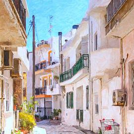 Antony McAulay - Lerapetra Street Scene Digital Painting