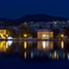 Vassilis Triantafyllidis - Lesvos Mytilene night Panoramic photo 140 degrees