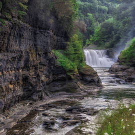 Mark Papke - Letchworth Lower Falls - Summer