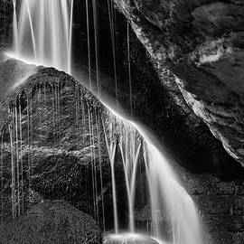 Andreas Levi - Lichtenhain Waterfall - bw version
