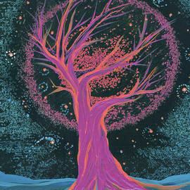 First Star Art - Life Blood Tree pink by jrr