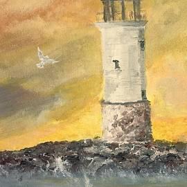 J Michael Affolter - Lighthouse at Sunset - Fond du Lac, WI