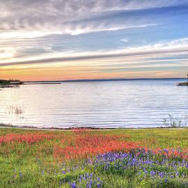 Lynn Bauer - Lighthouse Sunset at Lake Buchanan