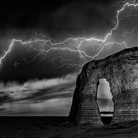 Lightning at Monument Rocks - Darren White