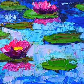 Ana Maria Edulescu - Lily Pond Impression - Pink Waterlilies