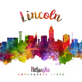 Lincoln Nebraska Skyline 23 - Aged Pixel