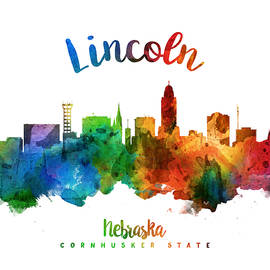 Lincoln Nebraska Skyline 25 - Aged Pixel