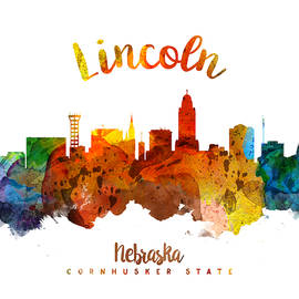 Lincoln Nebraska Skyline 26 - Aged Pixel