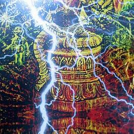 Michael African Visions - Lion Avatar with lightening reflection
