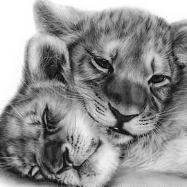 Danguole Serstinskaja - Two Lion Cubs