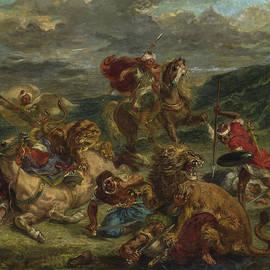 Lion Hunt - Ferdinand Victor Eugene Delacroix