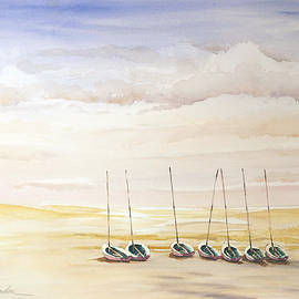 Shirley Sykes Bracken - Little Boats on the Beach