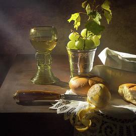 Levin Rodriguez - Little Breakfast with bread - grapes -peeled lemon