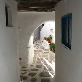 Colette V Hera  Guggenheim  - Little Cute Street Parikia Paros Island