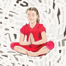 Plum Ovelgonne - Little Girl in Lotus Seat
