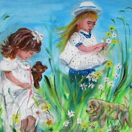 Lucille  Valentino - Little Girls Picking Flowers