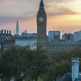 London Big Ben and the Shard Sunrise - Mike Reid
