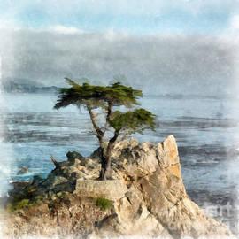 Edward Fielding - Lone Cypress Watercolor