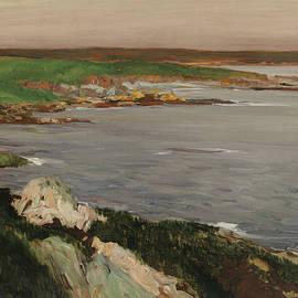 Lookout, Green and Orange Cliffs - John Sloan