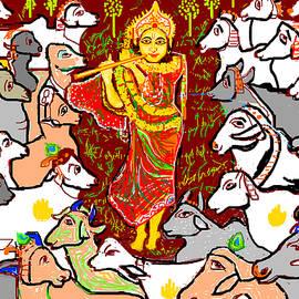 Anand Swaroop Manchiraju - Lord Krishna And Cows