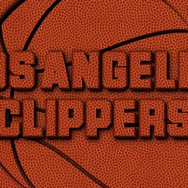 LOS ANGELES CLIPPERS LEATHER ART - Joe Hamilton