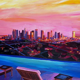 M Bleichner - Los Angeles Infinity Skyline with Infinite View Pool