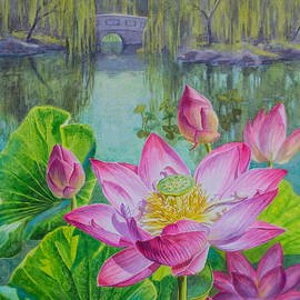 Fiona Craig - Lotuses in a Chinese Garden 1