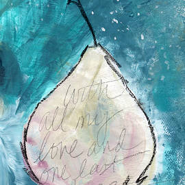 Love and Hope Pear- Art by Linda Woods - Linda Woods