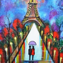 Manjiri Kanvinde - Love in Paris Romantic painting giftart