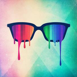 Philipp Rietz - Love Wins Rainbow - Spectrum Pride Hipster Nerd Glasses