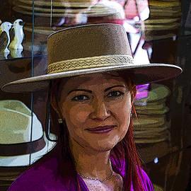 Al Bourassa - Lovely Lady 40 - In A Panama Hat
