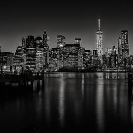 Dick Wood - Lower Manhattan from the Brooklyn piers