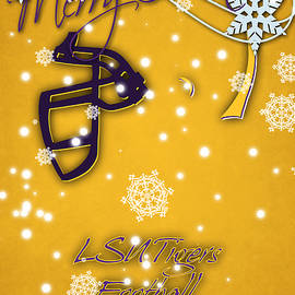 LSU TIGERS CHRISTMAS CARD 2 - Joe Hamilton