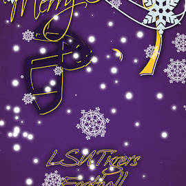 LSU TIGERS CHRISTMAS CARD - Joe Hamilton