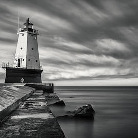 Adam Romanowicz - Ludington Light Black and White
